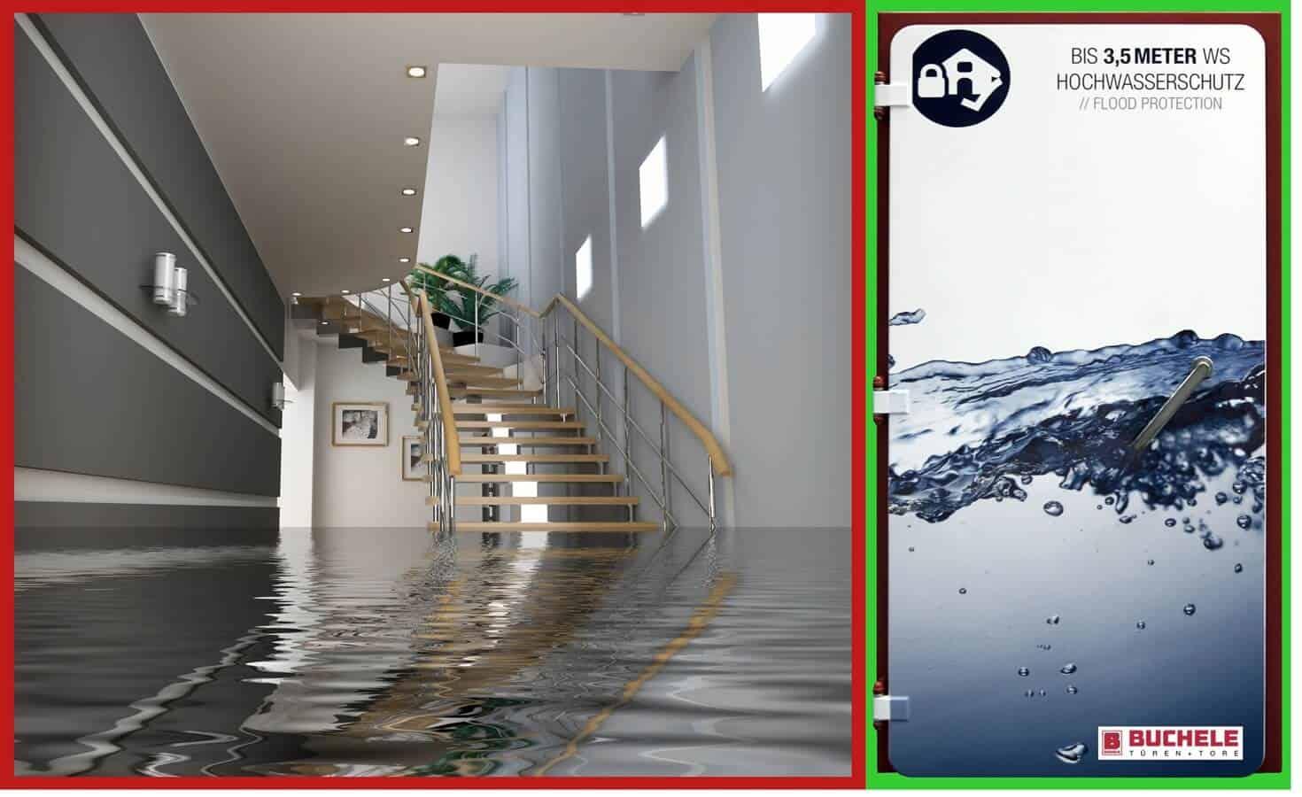 Ușa pentru protecții la inundații BUCHELE