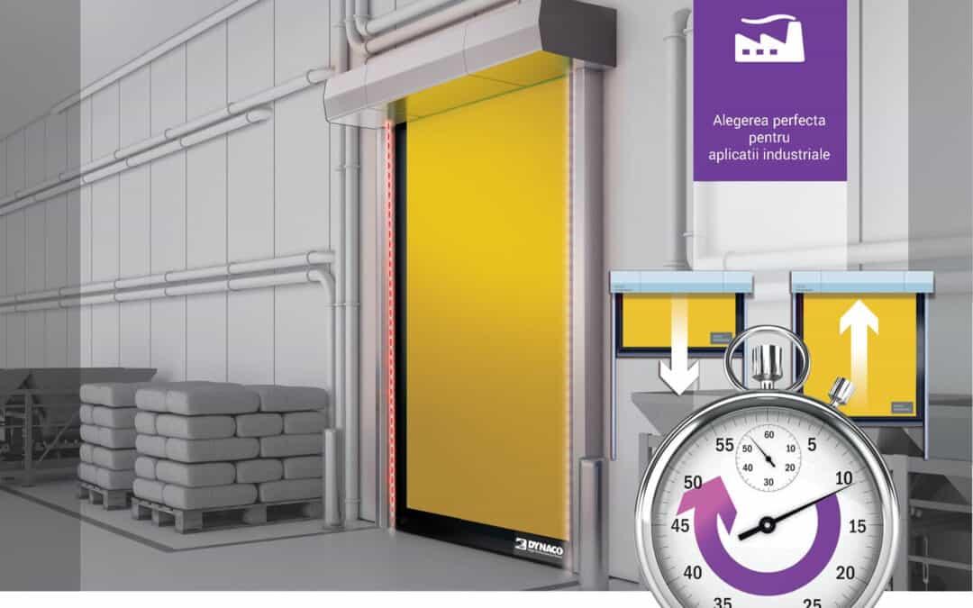 Ușa rapidă pentru exterior Dynaco D-6 cu deschidere în ~1.5 secunde [blog]