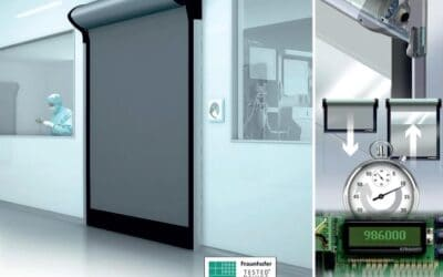 "Ușa rapidă Dynaco D-313 Cleanroom cu ""return of investment"" rapid  [blog]"